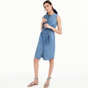 J.Crew Chambray Sleeveless Shirt dress /NWT /M/